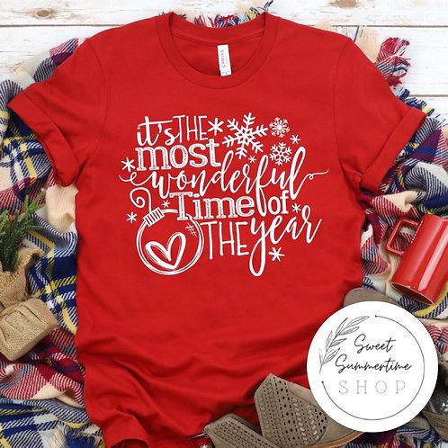 Most wonderful time Christmas tee shirt