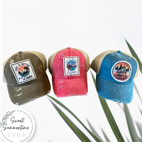 Outdoorsy patch hat