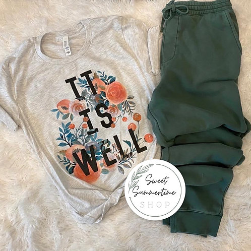 It is well with my soul- tee and jogger set