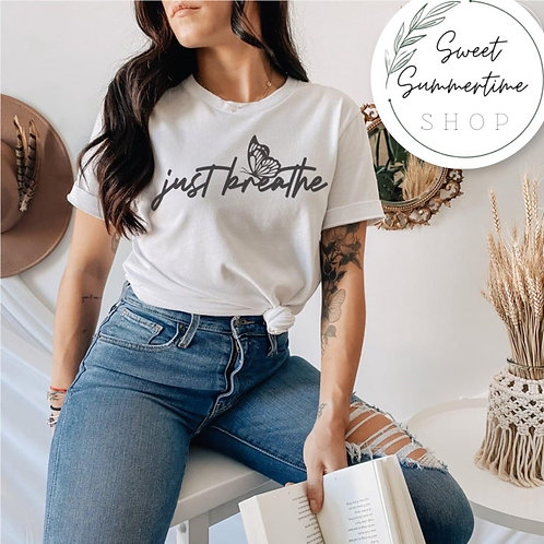 Just Breathe tee shirt