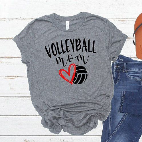 Volleyball Mom - Volleyball heart - Women's T Shirt