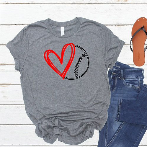 Love Baseball - Baseball heart - Women's T Shirt