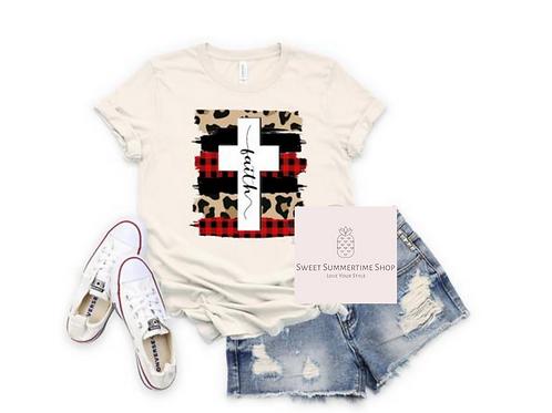 Faith Leopard and Buffalo Check  Shirt