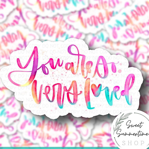 You are so very loved watercolor Sticker
