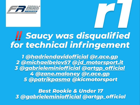 BREAKING | FRECA | Saucy Deprived of Le Castellet Race 1 Victory