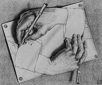 M.C. Escher 'Drawing Hands'1948.jpg