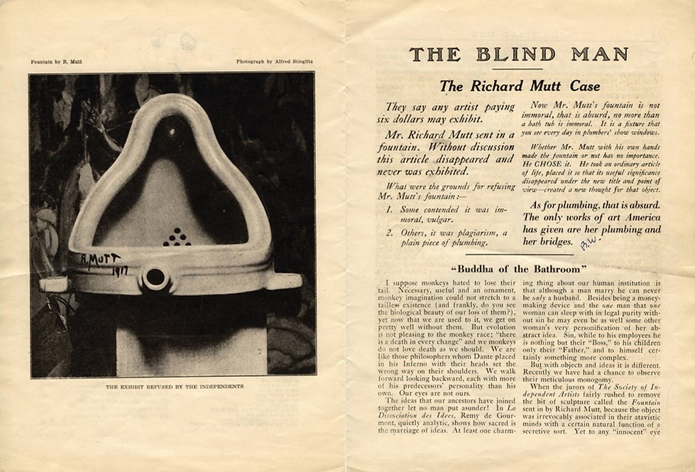 The Blind Man 'The Richard Mutt Case' 19