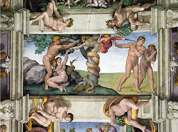 Michelangelo_'The_Temptation_and_Fall_