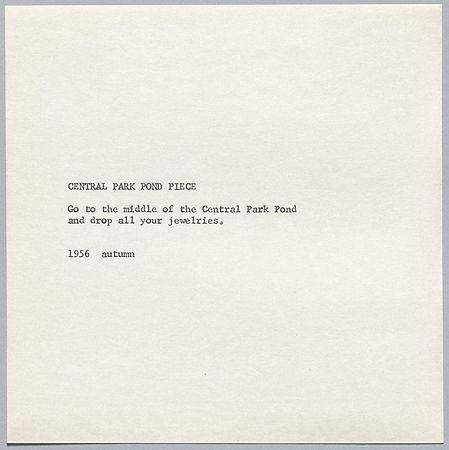Yoko Ono 'Pond Piece' 1956.jpg