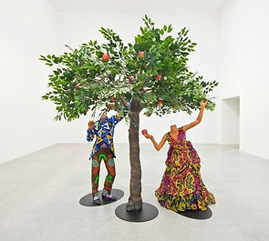 Yinka_Shonibare_'Adam_and_Eve'_2013.