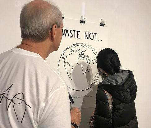 Hamish Pringle in 'ParticipArt' t-shirt