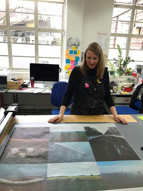 Charlotte Brown in WCA print workshop wi