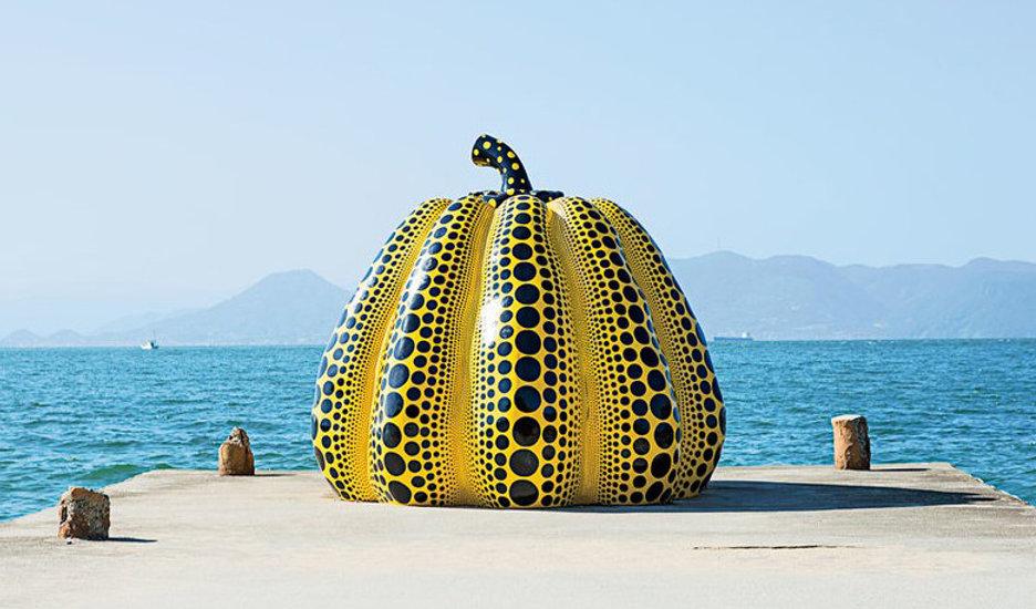 Yayoi Kusama 'Pumpkin' at Benesse Art Si