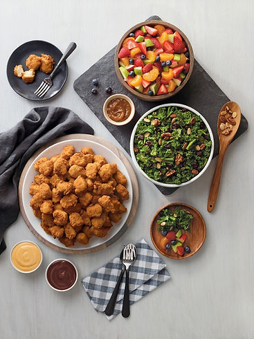 Picture of Catering Trays 120 count Nuggets Small Fruit tray Kale Salad