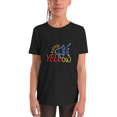 Always Yellow Youth Short Sleeve T-Shirt - Loudspeaker
