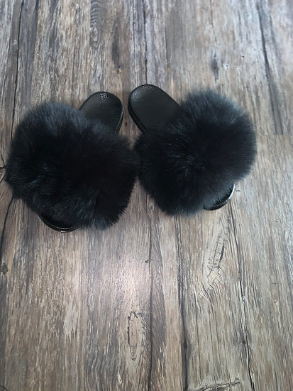 Black Bear Fur Slides