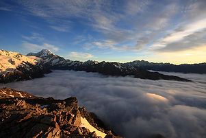 구름 산 꼭대기