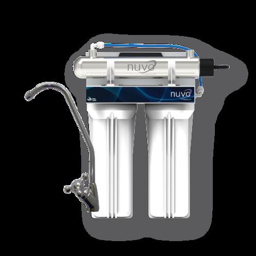 Purificador de agua por medio de luz ultravioleta con doble sistema de filt.