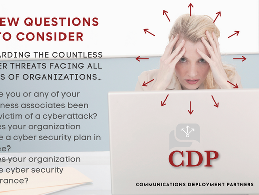 A few questions to consider regarding the countless cyber threats facing all types of organizations…