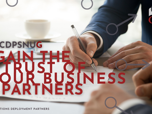 G – Gain the Trust of Your Business Partners