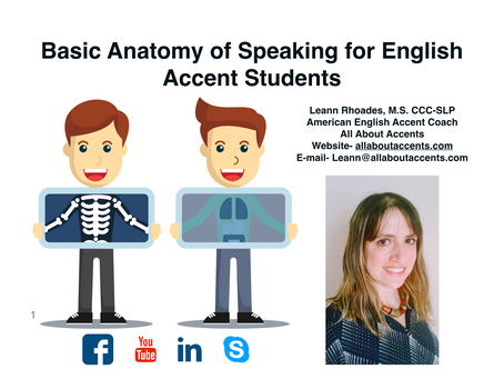Free E-Book: Basic Anatomy of Speaking for English Accent Students