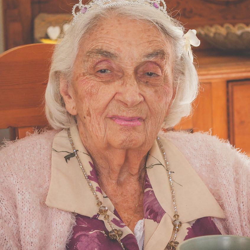 Grandmother with make up