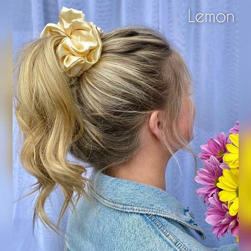 Lemon large Silky Scrunchie