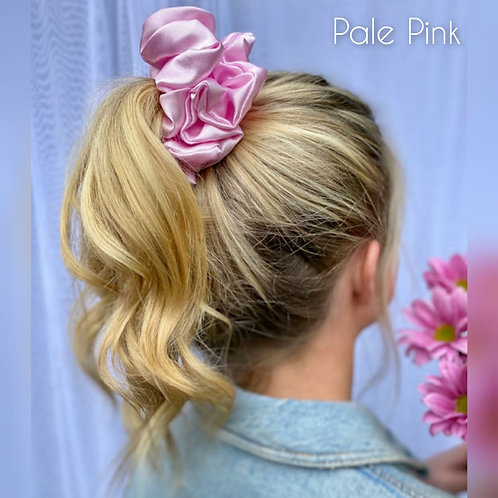 Pale Pink large Silky Scrunchie