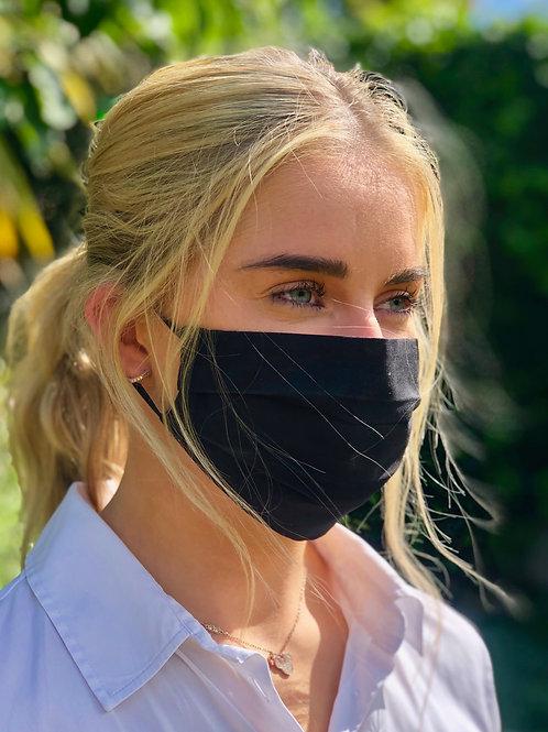 Teen School Trio plain black masks