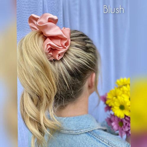 Blush large Silky Scrunchie