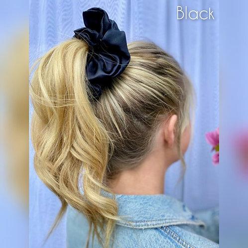 Black large Silky Scrunchie