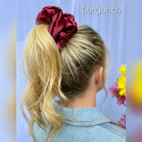 Burgundy large Silky Scrunchie
