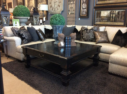 Custom Sectional with Cocktail Table