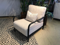 Upholstered and Iron Chair