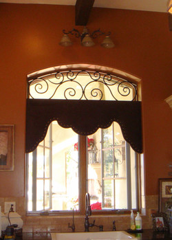 Faux iron and Custom Cornice Box