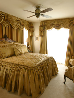 Master Bedroom with Custom Draperies