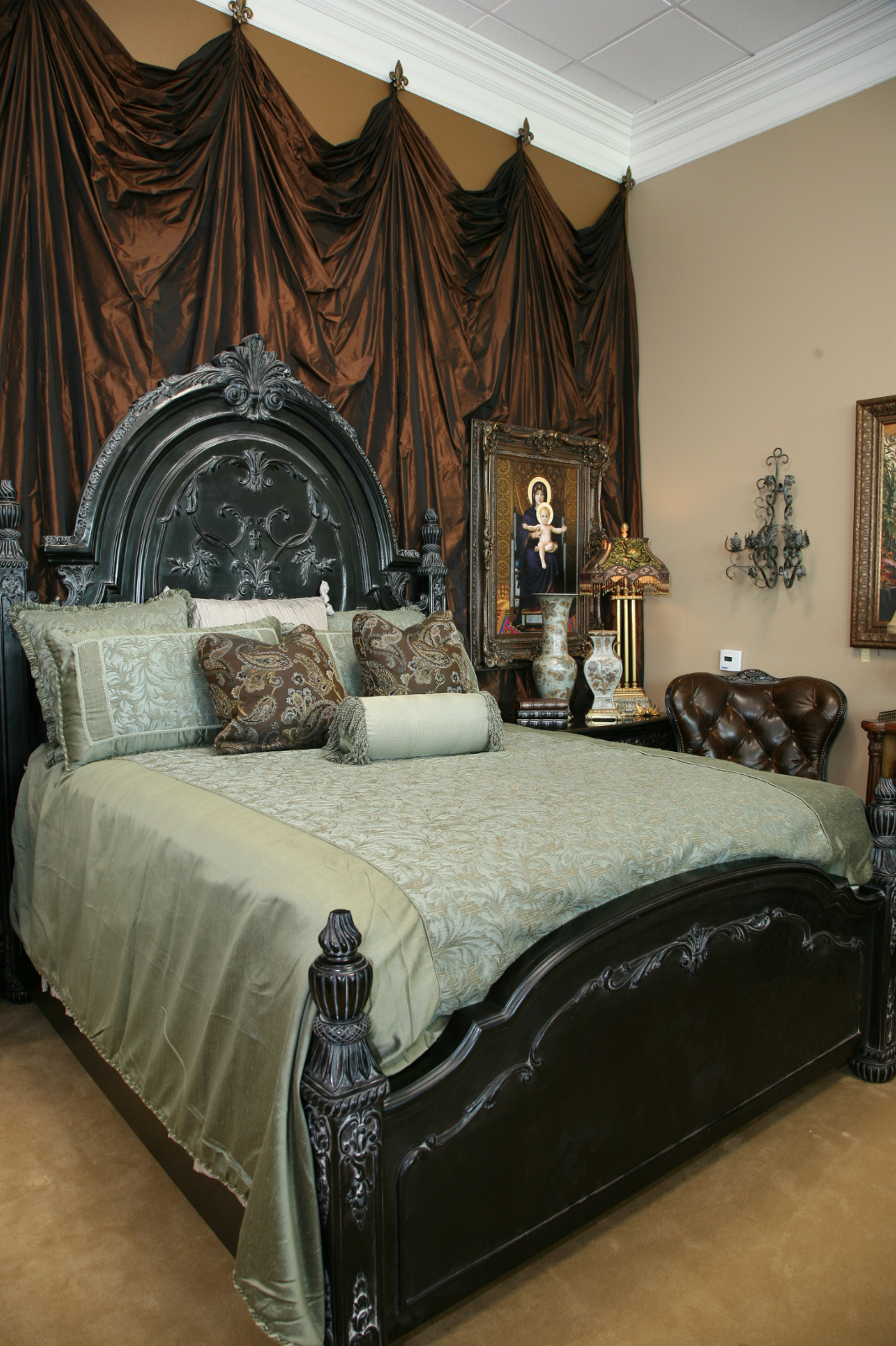Black Ornate Bed