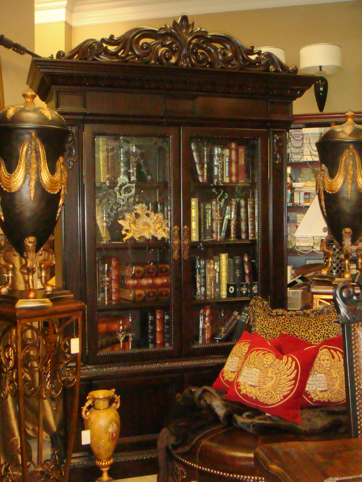 Ornate Bookcase