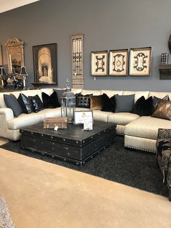 Custom Sectional with Large Cocktail