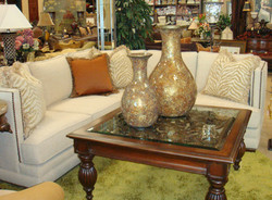 Sectional with Animal Print Pillows