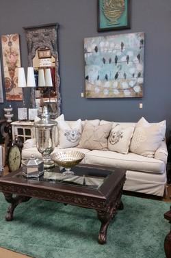 Slipcovered Linen Sofa