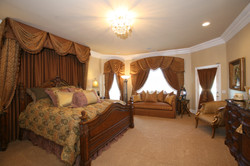 Formal Bedroom with Custom Draperies