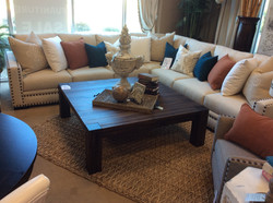 Custom Sectional with Square Table