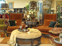 Accent Chairs and ottoman