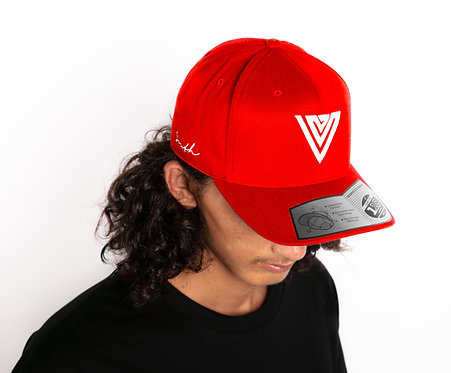 South 110 Curve Peak Cap Red & White