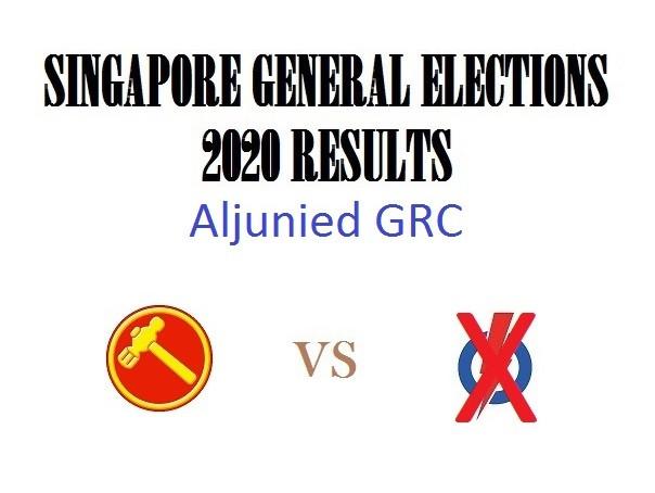 Result of GE2020 for Aljunied GRC
