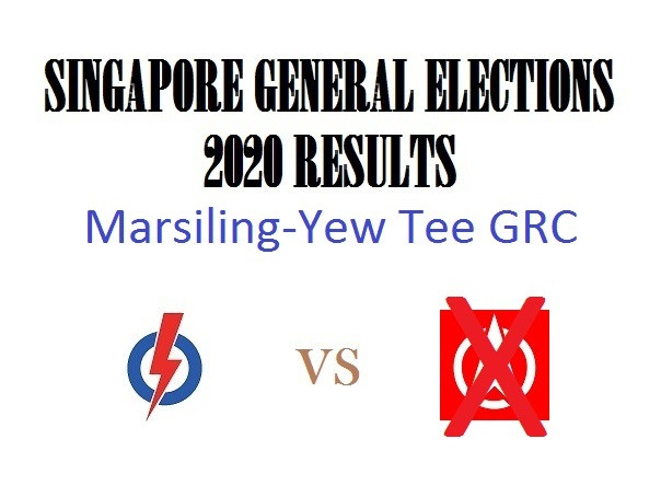 Result of GE2020 for Marsiling-Yew Tee GRC