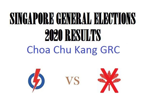 Result of GE2020 for Choa Chu Kang GRC
