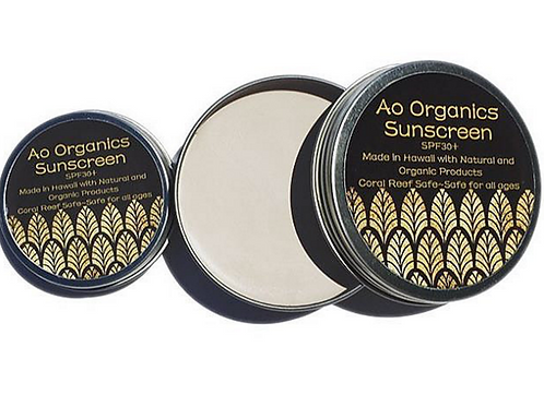 Ao Organics Sunscreen 4oz tin