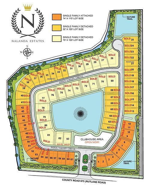 Site Plan Original - Sold Lots June 2021